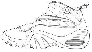 Print Image Download PDF Jordan Shoe Coloring Page