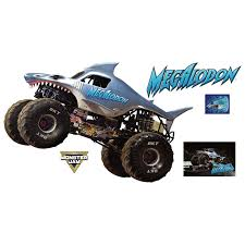 100 Monster Jam Toy Truck Videos Megalodon Huge Officially Licensed Removable Wall