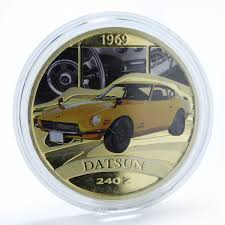 Tuvalu 1 Dollar Legendary Sports Cars 1969 Datsun 240 Z Silver Coin