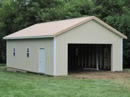 Pole Barn Garage Amish Shed Amish Garage Kits Pole Barn Garage