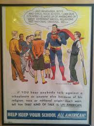 This Anti Racism Superhero Oriented Poster Came Around In A Childrens Comic Series And Proved To Be Very Powerful Conveying Its True Social Message