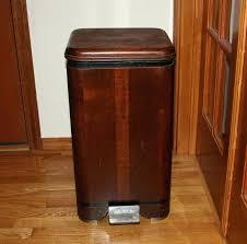 Slim Bathroom Trash Can With Lid by Bathroom Bathroom Wastebasket With Lid Wastebaskets Trash