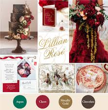 Winter Wedding Color Inspiration Red And Gold