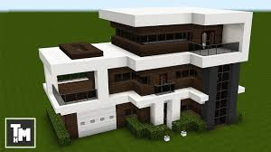 100 A Modern House Minecraft How To Build A Mansion Tutorial Easy