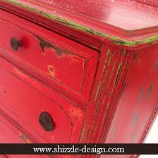 Fireworks Red Shizzle Design Paint Studio American Company Highboy Blue Green Chalk Clay Dresser