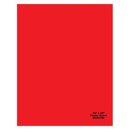 Norcom Wholesale Poster Board Red