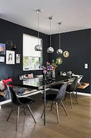 esszimmer in schwarz mit esstisch bild kaufen