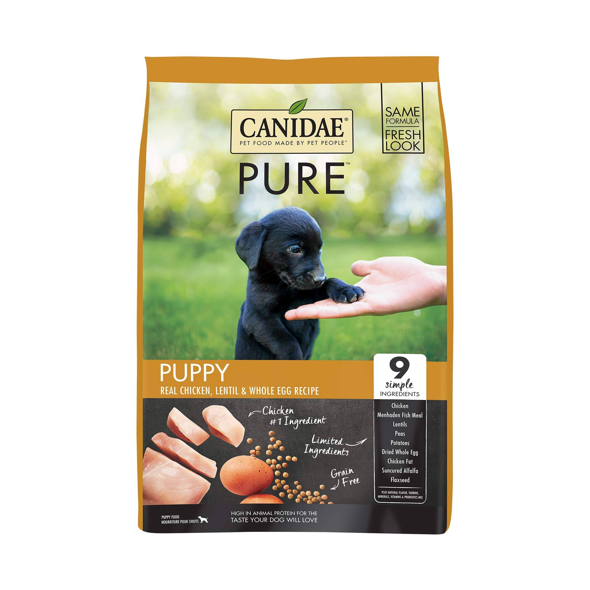 Canidae Grain Free Pure Dry Dog Food - Fresh Chicken for Puppies, 24lbs