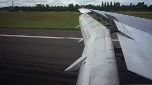 100 Parts Of A Plane Wing 757 Landing At Birmingham International BHX In HD Part Wing View Of Flaps