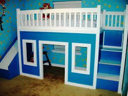 Great Blue Cheap Walmart Loft Bed With Stairs