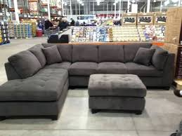 Grey Leather Sectional Living Room Ideas by Sectional Grey Leather Sofa Canada Divani Casa Chrysanthemum