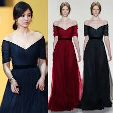 Red Long Evening Dress 2016 New Sexy V Neck Off The Shoulder Easy Pleat Design Black Formal To Party Gown Ruched A Line In Dresses From