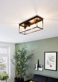 eglo deckenle silentina 3 flammige deckenleuchte modern industrial aus stahl wohnzimmerle in schwarz küchenle flurle decke mit e27