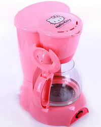 2014 New Kitchen Electric Appliance Coffee Machine Hello Kitty Pink Drip Maker Automatic Cafeteira Espresso Coffeepot In Makers From Home