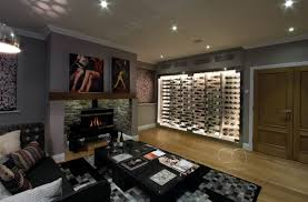 100 Wine Room Lighting Cellar Maison Contemporary Wine Wall With A Stainless Steel