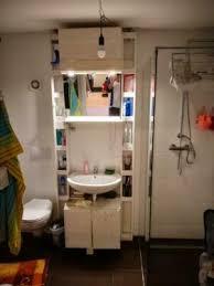 kein bohren vintage palettenmöbel badsystem