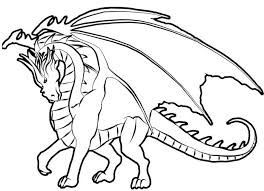 Mighty Dragon Coloring Pages