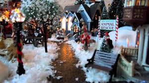 Thomas Kinkade Christmas Tree Train by Christmas Village Displays With Train U2013 Happy Holidays