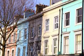 100 Notting Hill Houses London Print London Photo Coloured Etsy