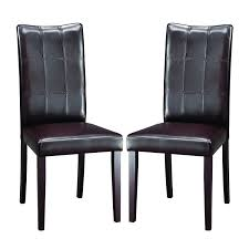 Shop Eugene Dark Brown Modern Dining Chairs (Set Of 2) - Free ... Shiro Dark Wood Modern Fniture Set Of Two Upholstered Brown Ding Charlotte Modern Ding Chair With Chrome Legs Brown Zuri Fniture Simple And Chair In South America Retail Green Leather With Polished Wooden Frame And Base Room Sparrow Wood Set 2 On Hautelook Texas Ireland Bracket Chairs Gus Luxurious Boasts A Table Illuminated Whosale Brooklyn Curve Tan Faux Steel Carver Vasa Removable Cover Pablo Gingko Home Furnishings