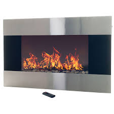 Amazon Stainless Steel Electric Fireplace With Wall Mount and