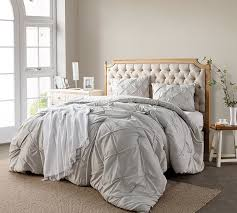 Silver Birch Pin Tuck King forter Oversized King XL Bedding