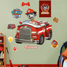100 Fire Truck Wall Decals Fathead Nickelodeon Marshalls Peel And Stick Decal