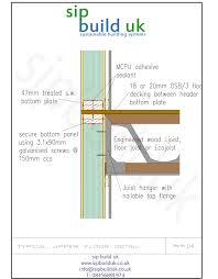 Floor Joist Calculator Uk by Sip Wall And Engineered Floor Section Deptford Related
