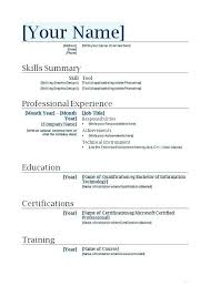Resume Templates First Job Professional Examples Free Cover Letter Template Student No Experience For Students Format Lesson Templat
