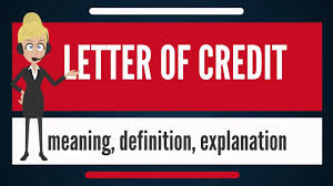 Letter Of Credit Letter Of Credit Invoice