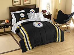 Pittsburgh Steelers Bathroom Set by Amazon Com Nfl Pittsburgh Steelers Twin Full Size Comforter With