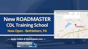 NEW Roadmaster CDL Training School NOW OPEN In Bethlehem, PA ... Vision Truck Driving School Cdl Traing Classes What To Consider Before Choosing A The Us Doesnt Have Enough Truckers And Its Starting Cause Schneider Schools Trucking Attempting Fix Americas Driver Shortage Smith Solomon Top Companies Drive For Academy Inexperienced Jobs Roehljobs Commercial Norristown Pa Prime News Inc Truck Driving School Job 5 Major Components Of Program Youtube