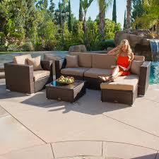 Ebay Patio Table Cover by Belleze 6pc Aluminum Patio Sofa Pe Rattan Couch 2 Set Cushion