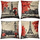 Red Decorative Pillows by Amazon Com Red Decorative Pillows Inserts U0026 Covers Bedding