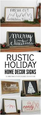 Holiday Home Decor Signs and Free Printable