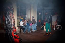 Universal Studios Orlando Halloween Horror by Clown Go Go Dancers Grab Guests U0027 Attention At Halloween
