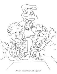 Halloween Safety Coloring Pages 15