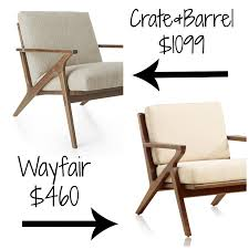 Crate And Barrel Petrie Sofa Cleaning by Decor Look Alikes Crate U0026 Barrel Cavett Chair Retails For 1099