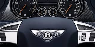Close up of the Continental GT steering wheel and the dashboard