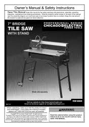 harbor freight tile saw manual harbor freight tools 60608 1 5 horsepower 7 in bridge tile saw