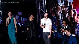 Civil War Blue Carpet MBS Chris Evans Sebastian Stan Joe Russo