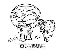 The Octonauts Octopus And Frown Fish Of Coloring Page
