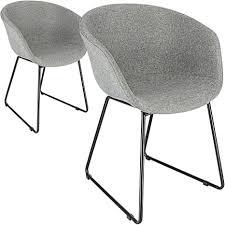 cepewa esszimmerstuhl 2er set mit armlehnen stabilem metallgestell gepolsterter sitzfläche küchenstuhl polsterstuhl schalenstuhl in schwarz oder