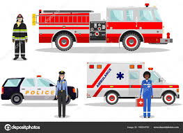 Emergency Concept. Detailed Illustration Of Female Firefighter ...