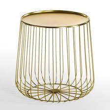 table d appoint pour canapé bout de canapé fil métal cage bout de canapé canapés et fil