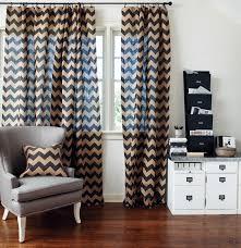 chevron stripe burlap curtain panels office pinterest burlap