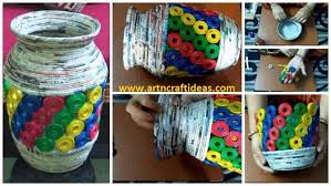 How To Make A Newspaper Tubes Jar Or Vase