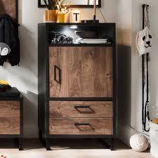 wohnzimmer kommode in eiche dunkel und dunkelgrau modern