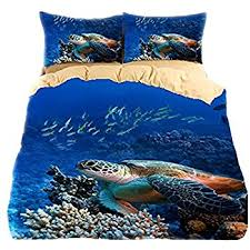 Amazon Sea turtle 3d bedding sets twin queen king bedclothes