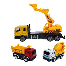 100 Construction Trucks Battery Operated Excavator Truck With 2 Mini Pull Back